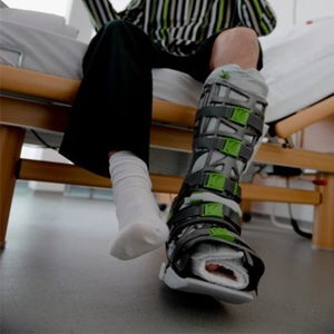 shoe balancer for walking boot